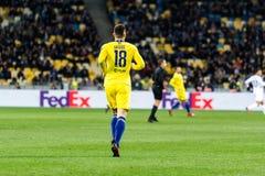 UEFA Europa League football match Dynamo Kyiv – Chelsea, March 14, 2019. Kyiv, Ukraine - March 14, 2019: Olivier Giroud of Chelsea during UEFA Europa royalty free stock photography