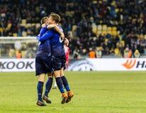 UEFA Europa League football match Dynamo Kyiv – Lazio, March 1 royalty free stock image