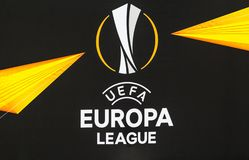 UEFA Europa League football match Dynamo Kyiv – Olympiakos FC, February 22, 2019 stock photo