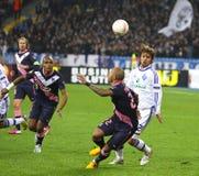 UEFA Europa League game FC Dynamo Kyiv vs Bordeaux Royalty Free Stock Photos