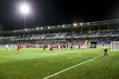 UEFA Europa League game between Qabala and PAOK, in Baku, Azerba Royalty Free Stock Photos