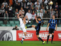 UEFA Europa League group stage Legia Warsaw Club Brugge Stock Photography