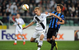 UEFA Europa League group stage Legia Warsaw Club Brugge Royalty Free Stock Photo