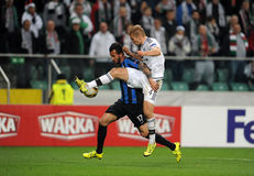 UEFA Europa League group stage Legia Warsaw Club Brugge Stock Photos