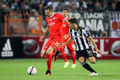UEFA Europa League match between PAOK vs ACF Fiorentina Stock Image