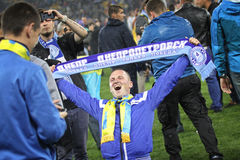 UEFA Europa League semifinal game Dnipro vs Napoli Royalty Free Stock Images
