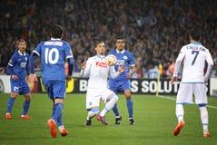 UEFA Europa League semifinal game Dnipro vs Napoli Stock Photo