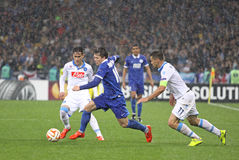 UEFA Europa League semifinal game Dnipro vs Napoli Stock Photo