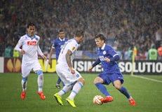 UEFA Europa League semifinal game Dnipro vs Napoli Stock Photos