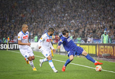 UEFA Europa League semifinal game Dnipro vs Napoli Royalty Free Stock Photos