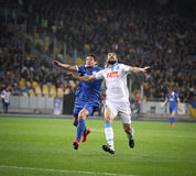 UEFA Europa League semifinal game Dnipro vs Napoli Royalty Free Stock Image