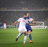 UEFA Europa League semifinal game Dnipro vs Napoli Stock Images