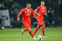 UEFA-Europa-Ligaspiel zwischen PAOK gegen ACF Fiorentina Stockbild