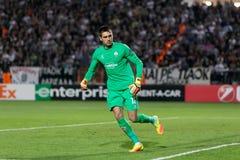 UEFA-Europa-Ligaspiel zwischen PAOK gegen ACF Fiorentina Lizenzfreies Stockfoto
