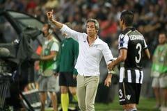 UEFA-Europa-Ligaspiel zwischen PAOK gegen ACF Fiorentina Stockfotos