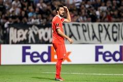UEFA-Europa-Ligaspiel zwischen PAOK gegen ACF Fiorentina Stockbilder