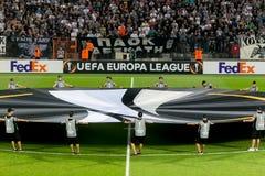 UEFA-Europa-Ligaspiel zwischen PAOK gegen ACF Fiorentina Lizenzfreie Stockfotos
