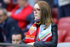UEFA Europa Ligowy Definitywny mecz futbolowy Dnipro vs Sevilla Zdjęcie Stock