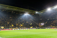 UEFA Europa Ligowy dopasowanie między borussia dortmund vs paok Obrazy Royalty Free