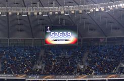 Uefa-Europaliga: FC Dynamo Kyiv V SS Lazio Royaltyfria Bilder
