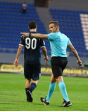 Uefa-Europaliga: Olimpik Donetsk vs PAOK Arkivbilder
