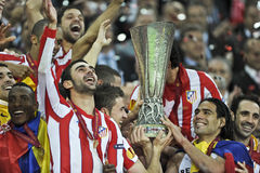 Uefa-Europaliga sista Bucharest 2012 Royaltyfria Foton