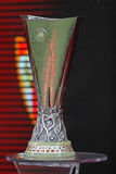 UEFA Europe Laegue Trophy Cup. WARSAW, POLAND - MAY 27, 2015: UEFA Europe Laegue Trophy Cup presents on public before the final game between Dnipro and Sevilla royalty free stock photo