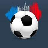 The 2016 UEFA European Championship.  France. Ball and france flag colors. The 2016 UEFA European Championship.  France. Template with ball and France flag Royalty Free Stock Image