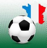2016 UEFA europejczyka mistrzostwo Francja Piłka i kraj granicy z chorągwianymi kolorami Zdjęcie Royalty Free