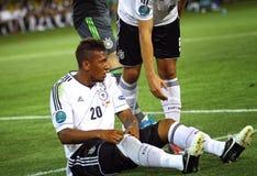UEFA-EUROspiel 2012 die Niederlande gegen Deutschland Lizenzfreie Stockfotografie