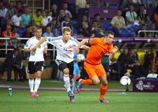 UEFA-EUROspiel 2012 die Niederlande gegen Deutschland Lizenzfreie Stockbilder