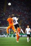 UEFA-EUROspiel 2012 die Niederlande gegen Deutschland Stockfotos