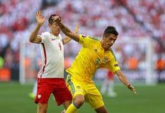 UEFA-EUROspiel 2016 Ukraine V Polen Lizenzfreie Stockbilder