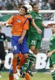 uefa för match för liga för aalesund europaferencvaros vs Arkivfoton