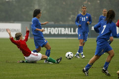 UEFA FEMALE SOCCER CHAMPIONSHIP 2009,ITALY-HUNGARY Royalty Free Stock Photos