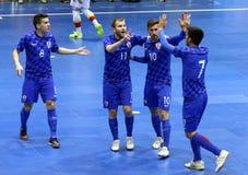 UEFA Futsal euro 2018 kwalifikacyjnych turniejów w Kyiv Zdjęcia Stock
