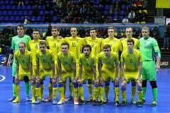 UEFA Futsal Euro 2018 qualifying tournament in Kyiv Stock Images