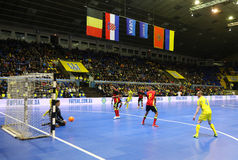 UEFA Futsal Euro 2018 qualifying tournament in Kyiv Stock Photography
