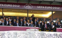 UEFA-het Definitieve spel Spanje van EURO 2012 versus Italië Royalty-vrije Stock Afbeeldingen