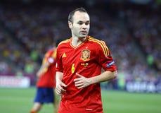 UEFA-het Definitieve spel Spanje van EURO 2012 versus Italië stock foto