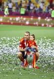 UEFA-het Definitieve spel Spanje van EURO 2012 versus Italië Stock Afbeelding