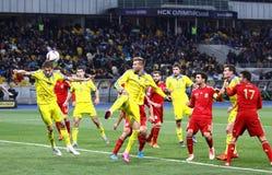 UEFA-het Kwalificerende spel de Oekraïne v van EURO 2016 Spanje Royalty-vrije Stock Afbeelding