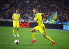 UEFA-het Kwalificerende spel de Oekraïne van EURO 2016 versus Slowakije Royalty-vrije Stock Foto's