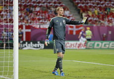 UEFA-het spel Duitsland van EURO 2012 versus Denemarken Stock Afbeelding