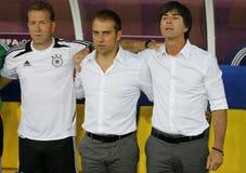 UEFA-het spel Duitsland van EURO 2012 versus Denemarken Royalty-vrije Stock Afbeeldingen