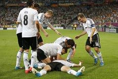 UEFA-het spel Duitsland van EURO 2012 versus Denemarken Royalty-vrije Stock Foto
