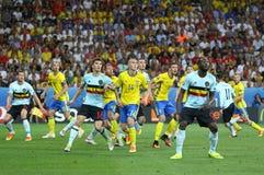 UEFA-het spel van EURO 2016: Zweden v België Royalty-vrije Stock Afbeelding