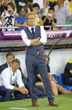 UEFA-het spel Zweden van EURO 2012 versus Frankrijk Royalty-vrije Stock Afbeeldingen