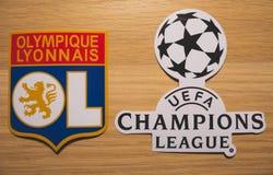UEFA kämpar för ligan arkivfoto