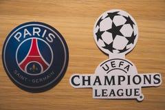 UEFA kämpar för ligan royaltyfri foto